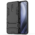 Slim Armour Tough Shockproof Case & Stand for Oppo Reno Z (Black)